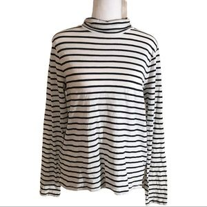 Madewell stripes long sleeves turtle neck top